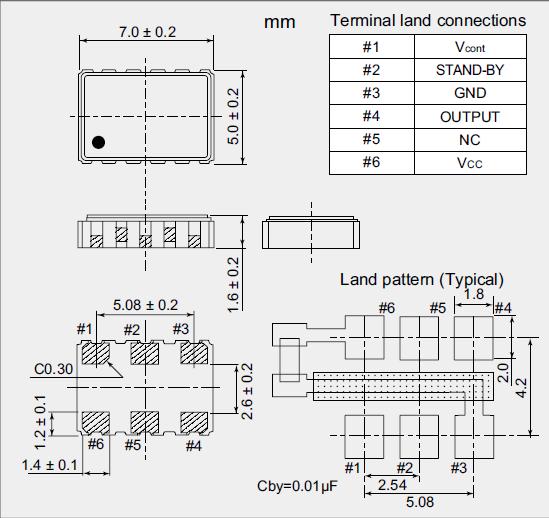 有源晶振,移动通信振荡器,nv7050sf晶振