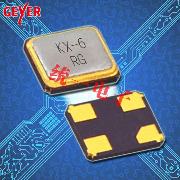 GEYER晶振,贴片晶振,KX–6晶振