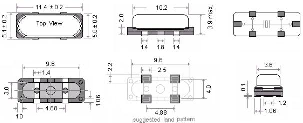 玛居礼晶振,贴片晶振,MP24晶振,高频晶振