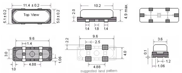 玛居礼晶振,贴片晶振,MP25晶振,无铅晶振